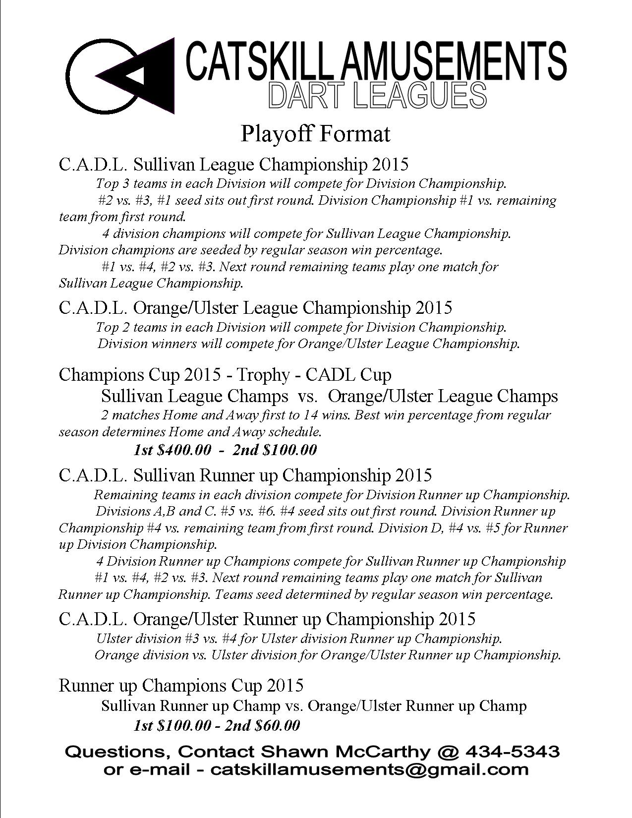 Playoff Format 2015